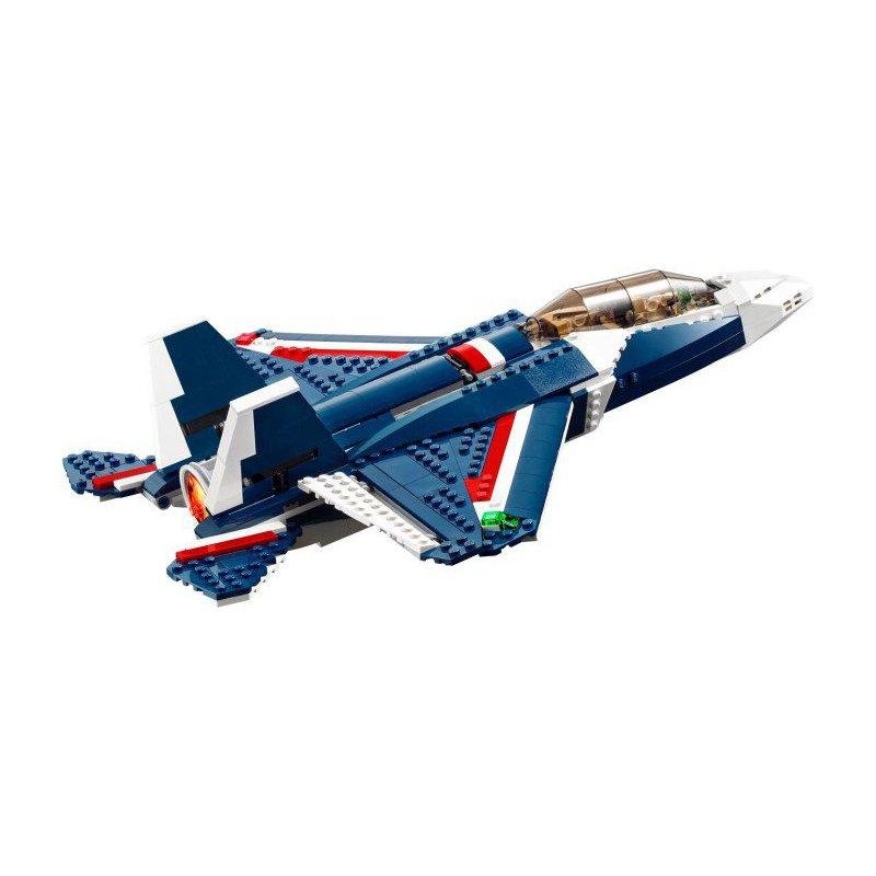 lego blue power jet instructions
