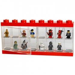 Pojemnik LEGO na minifigurki 16 szt. czerwony