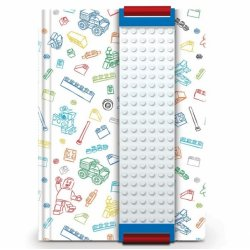 LEGO 51525 White notebook with LEGO plate