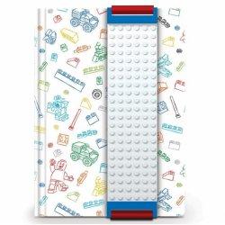 LEGO 51525 Notatnik biały z płytką LEGO