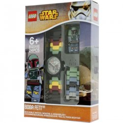 LEGO 8020448 LEGO Star Wars Boba Fett Kids' Minifigure Link Watch