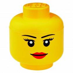 Pojemnik LEGO Głowa Dziewczynki duża