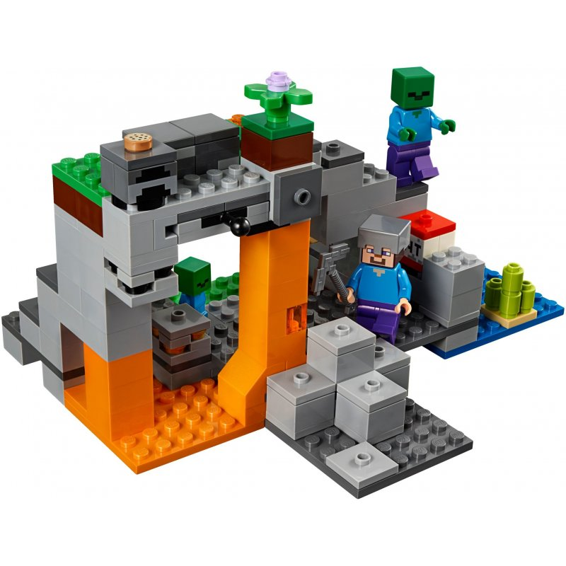 Lego 21141 the zombie cave lego sets minecraft for Zombie build