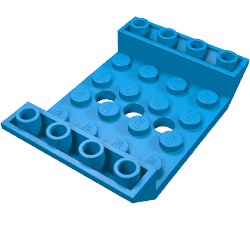 LEGO 60219 Inv. Roof Tile 4x6 No Sides and 3 Holes
