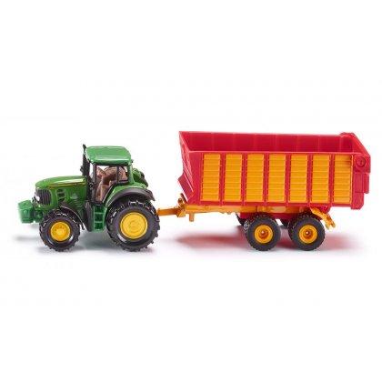 Siku Super: Seria 16 - Traktor John Deere z przyczepą Silage 1650