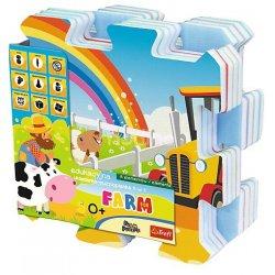 Układanka-puzzlopianka Mata - Farma