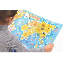 Puzzle Mapa świata CzuCzu - Zwierzęta