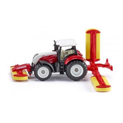Siku Super: Seria 16 -Traktor Steyr z kosiarkami Pöttinger 1672