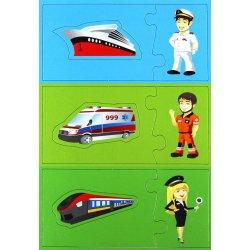 Pojazdy - Mały Odkrywca, Gra puzzlowa