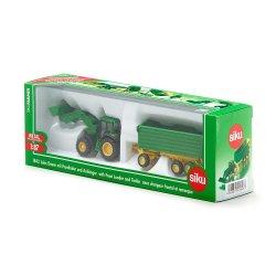 Siku Farmer: Seria 18 - Traktor John Deere z przyczepą i ładowarką 1843