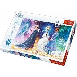 Puzzle Maxi 24 el. W świetle gwiazd - Frozen