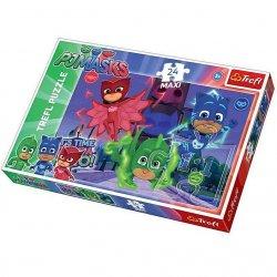 Puzzle Maxi 24 el. Ukryci bohaterowie - PJ Masks