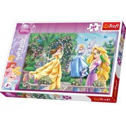 Puzzle 260 el. Spacer przed balem - Disney Princess