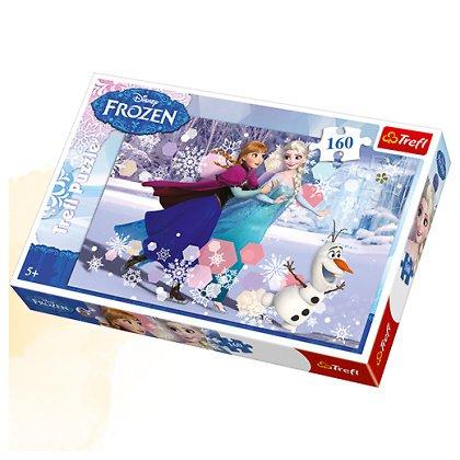 Puzzle 160 el. Jazda na łyżwach - Frozen