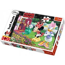Puzzle 160 el. Podlewanie kwiatków - Disney Minnie