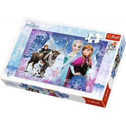 Puzzle 160 el. Zimowe przygody - Frozen