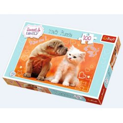 Puzzle 100 el. Sweet & Lovely - Całusy