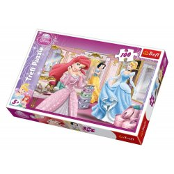 Puzzle 100 el. Przygotowania do balu - Disney Princess