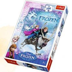 Puzzle 100 el. Na ratunek Annie - Disney Frozen