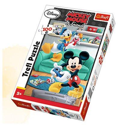 Puzzle 100 el. Miki i Donald
