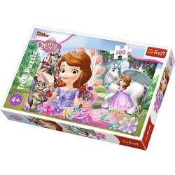 Puzzle 100 el. W królestwie przygód - Disney Sofia