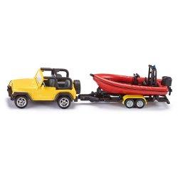 Siku Super: Jeep z łodzią 1658