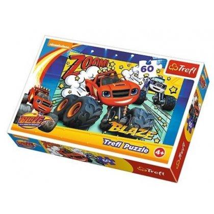 Puzzle 60 el. Co za drużyna - Blaze i megamaszyny