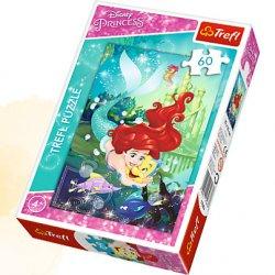 Puzzle 60 el. Arielka i jej przyjaciele - Disney Princess