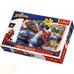 Puzzle 60 el. Waleczny Spider-Man