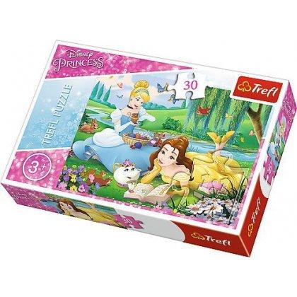 Puzzle 30 el. Bella i Kopciuszek - Disney Princess