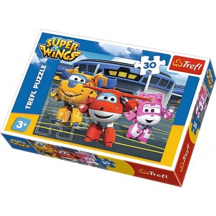Puzzle 30 el. Przyjaciele przed hangarem - Super Wings