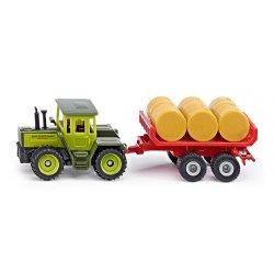 Siku Super: Traktor MB z przyczepą do bel 1670