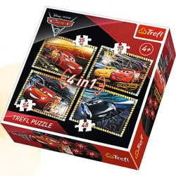 Puzzle 4w1 - Gotowi do wyścigu - Cars3