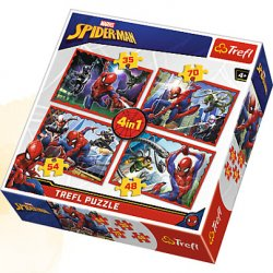 Puzzle 4w1 - W sieci Spider-Mana - Spiderman