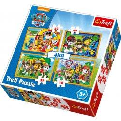 Puzzle 4w1 Zawsze na czas - Psi Patrol