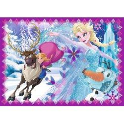 Puzzle 4w1 Zimowe szaleństwo - Frozen
