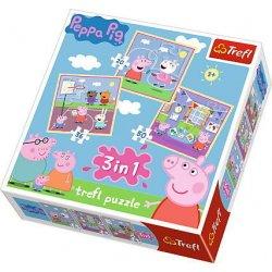 Puzzle 3w1 - Zabawy w szkole - Świnka Peppa