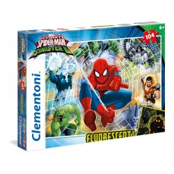 Puzzle 104 el. - Spiderman - Fluorescencyjne