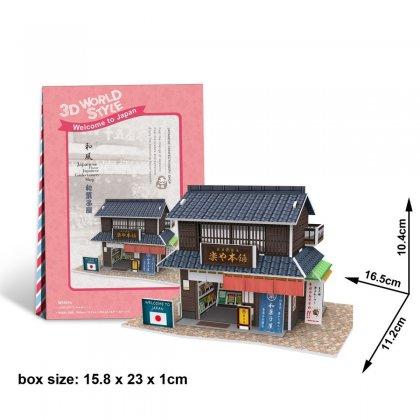 Puzzle 3D Domki Świata Japonia