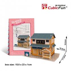 Puzzle 3D Domki Świata Japonia SUSHI HOUSE
