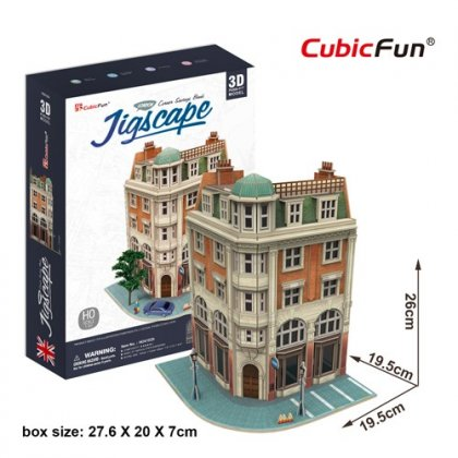 Puzzle 3D Wielka Brytania CORNER SAVINGS BANK- JIGSCAPE