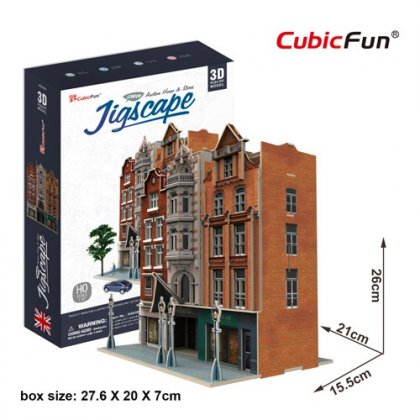Puzzle 3D Wielka Brytania AUCTION HOUSE & STORES - JIGSCAPE