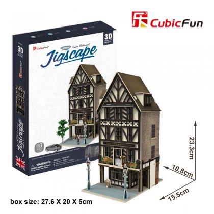 Puzzle 3D Wielka Brytania TUDOR RESTAURANT - JIGSCAPE