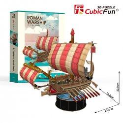 Puzzle 3D Żaglowiec ROMAN WARSHIP