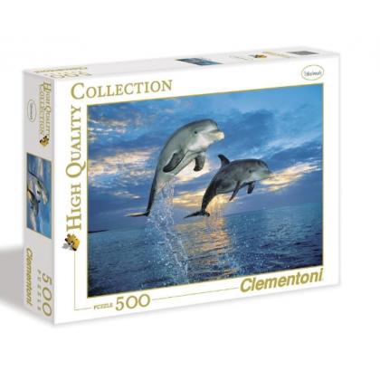 Puzzle 500 el. HQ - Delfiny