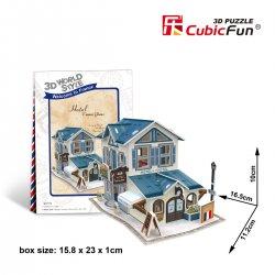 Puzzle 3D Domki Świata Francja HOTEL