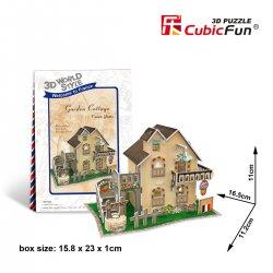 Puzzle 3D Domki Świata Francja COTTAGE