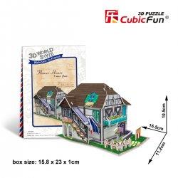 Puzzle 3D Domki Świata Francja FLOWER SHOP