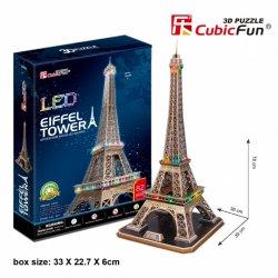 Puzzle 3D WIEŻA EIFFEL'A LED