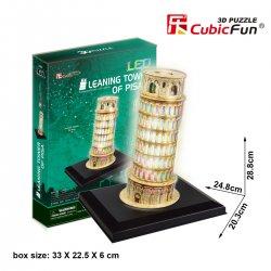 Puzzle 3D KRZYWA WIEŻA W PIZIE LED
